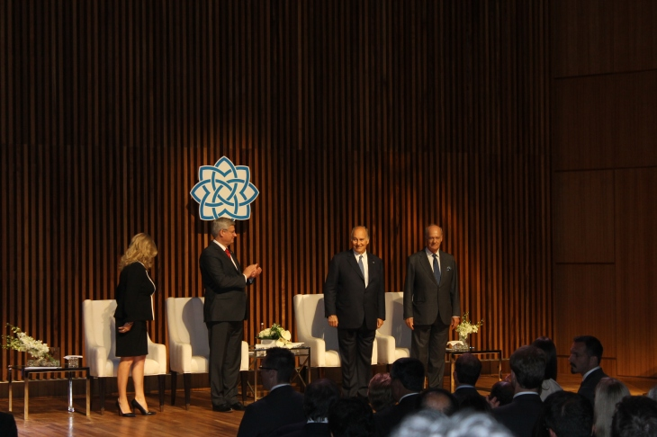 A proud moment for all as the Aga Khan Museum is declared open. [Image © Ismailimail/AM]
