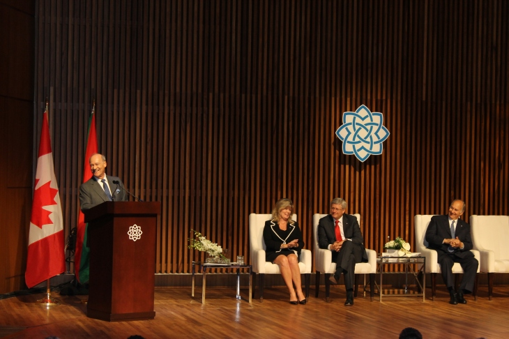 Prince Amyn making jokes during the inaugural address of the Aga Khan Museum. [Image © Ismailimail/AM]