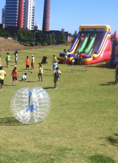 Fun fare for all ages at the walk site - kids zone