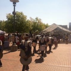 Drum lines before the walk