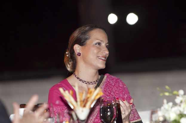 Princess Zahra, who was in Mumbai to review the ongoing expansion of the Prince Aly Khan Hospital, attends a dinner hosted by the Jamati institutions of India. AHMED CHARANIA AND AZIZ AJANEY