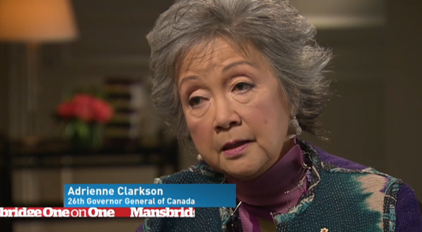 MANSBRIDGE ONE ON ONE -  Adrienne Clarkson