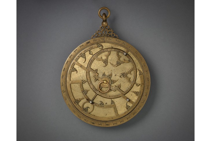 WSJ - A 14th-century bronze Iberian astrolabe—star-mapping instrument—inlaid with silver. © 2014 The Aga Khan Museum