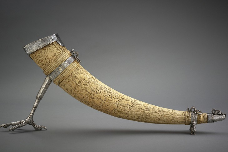 WSJ - Ivory horn carved in the 12th century, then detailed and mounted with silver 500 years later. © 2014 The Aga Khan Museum