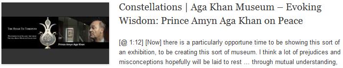 Constellations   Aga Khan Museum – Evoking Wisdom: Prince Amyn Aga Khan on Peace