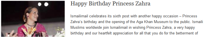 Happy Birthday Princess Zahra