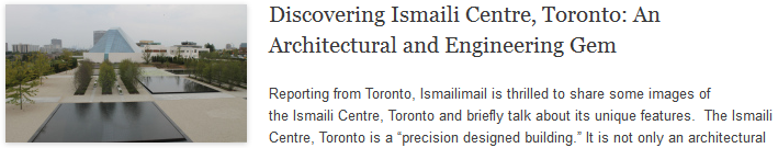 Discovering Ismaili Centre, Toronto: An Architectural and Engineering Gem