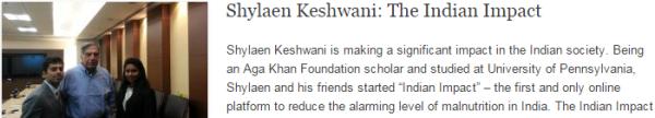 Shylaen Keshwani: The Indian Impact
