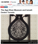 CBC News Toronto Photo Gallery: The Aga Khan Museum and Ismaili Centre Toronto