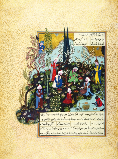 This illustration is from Shah Tahmasp I's Shahnameh showing Firdausi and the three court poets of Ghazna. PHOTOS COURTESY: AGA KHAN MUSEUM