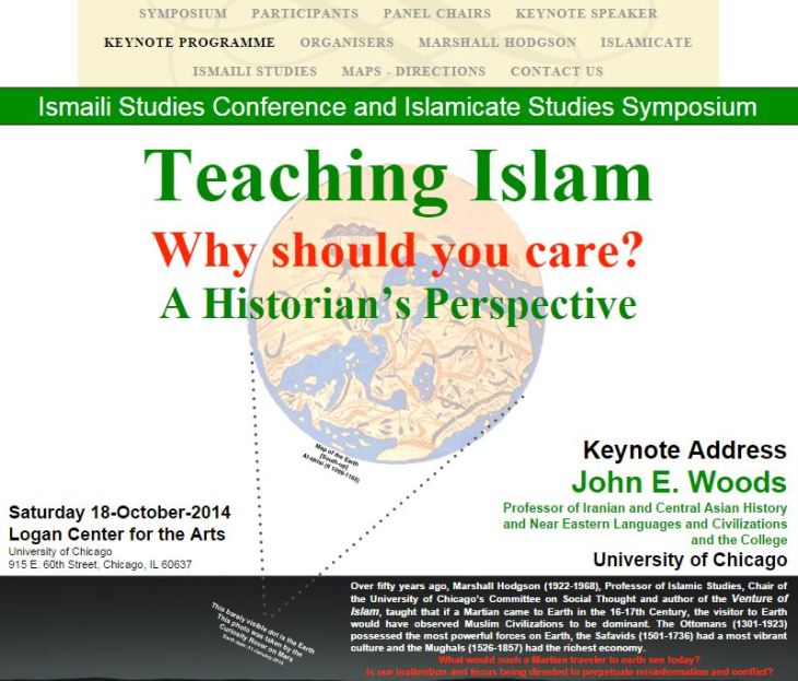 ISC - Ismaili Studies Conference and Islamicate Studies Symposium - Teaching Islam