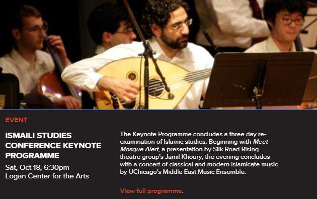 Arts UChicago: Ismaili Studies Conference Keynote Programme