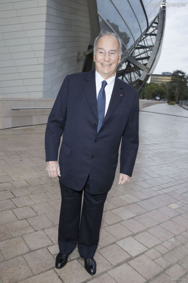 His Highness the Aga Khan at Gala event at the Louis Vuitton Foundation