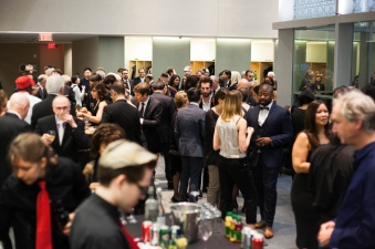 350 Canadian Architects jam the hallways of the Aga Khan Museum as they celebrate at the inauguration of the Moriyama RAIC International Prize (Image Courtesy RAIC)
