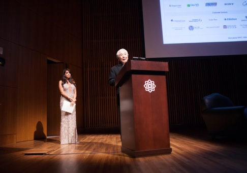 On stage the esteemed Canadian architect Raymond Moriyama (Image Courtesy RAIC)