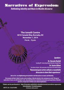 Event - November 1 | Ismaili Centre, Burnaby: Narratives of Expression, with Hussein Rashid & Karim Gillani