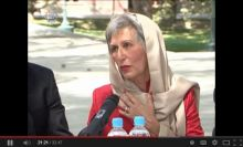 AKDN Representative Nurjehan Mawani delivers special message at President Karzai's Farewell Meeting with Foreign Diplomatic Corps