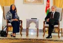 Aga Khan Development Network's Resident Representative Nurjehan Mawani met with CEO Abdullah Abdullah, reaffirms support to new government
