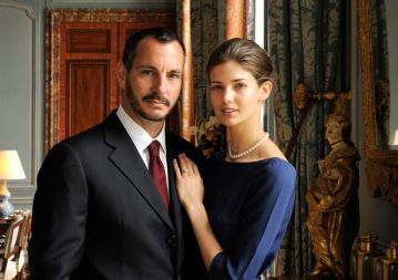 PR - 9 - Prince Rahim Aga Khan and his fiance Kendra Spears pose on April 15, 2013 in France. Photo by Gary OtteThe Ismaili via Getty Images