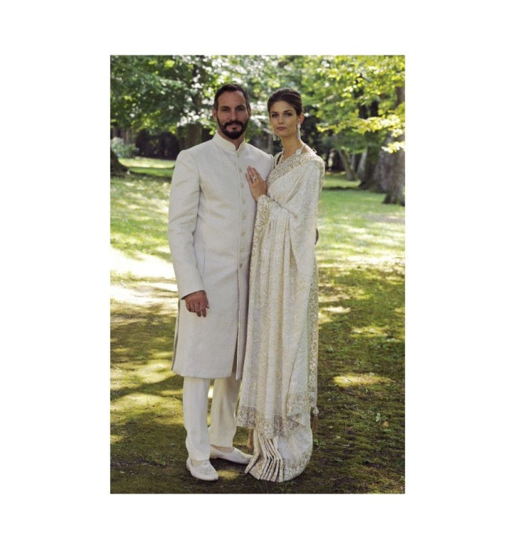 Prince Rahim and Princess Salwa on their wedding day on August 31, 2013. Photo: TheIsmaili / Gary Otte.