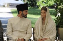 Prince Rahim and Princess Salwa during their nikah ceremony. Photo - TheIsmaili - Gary Otte