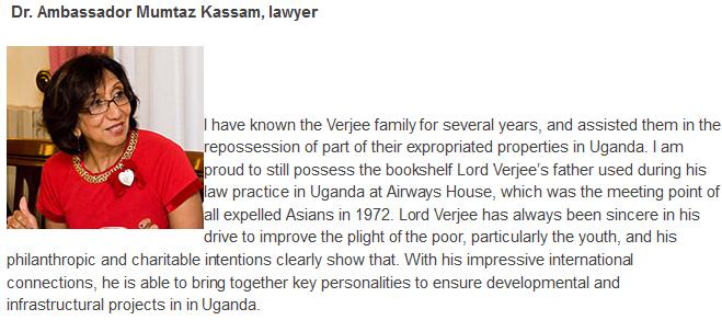 Ugandan-born Lord Rumi Verjee, a UK tycoon – Ismailimail
