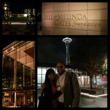 Sabrina and Afzal at Bill and Melinda Gates Foundation