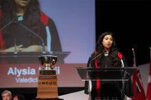 Valedictorian Alysia Harji wins Seneca Cup