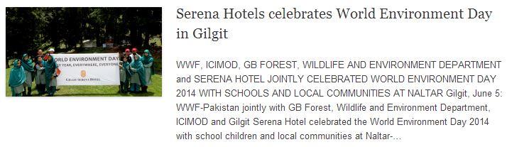 Serena Hotels celebrates World Environment Day in Gilgit