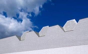 The hexagonal skylights, or 'lanterns', introduce shafts of ambient light - the hexagon being symbolic, in the faith, of heaven. (Image: Wallpaper/Aga Khan Museum) <br> Click the image to learn more >>