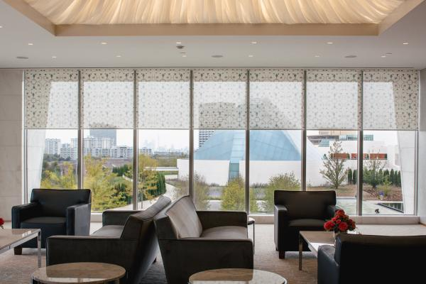 View of the Ismaili Centre from Aga Khan Museum's Patron Lounge. (Photo via Monocle)