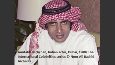 Amitabh Bachchan, Indian actor, Dubai, 1980s The International Celebrities series © Noor Ali Rashid Archives