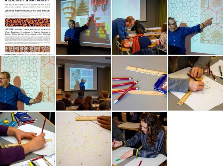 Islamic Geometric Design Workshop: A few highlights from the Aga Khan Documentation Center (AKDC) & Aga Khan Program for Islamic Architecture  (AKPIA) @MIT with Eric Broug