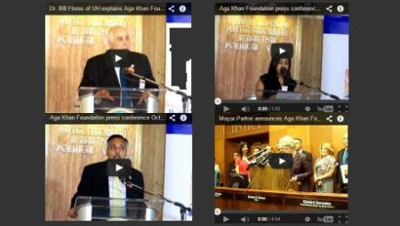 Aga Khan Foundation Press Conference at Houston City Hall