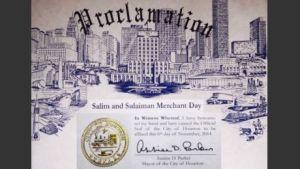 Houston Proclaims Salim and Sulaiman Merchant Day