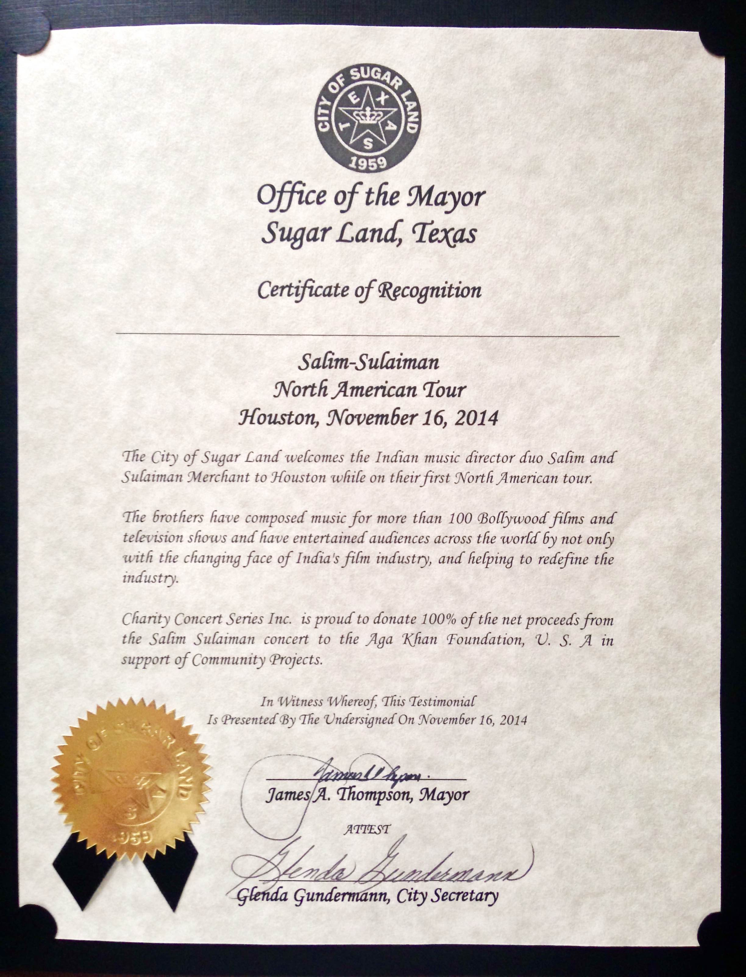 Sugar land mayor honors salim and sulaiman with a certificate of img9097 aiddatafo Gallery