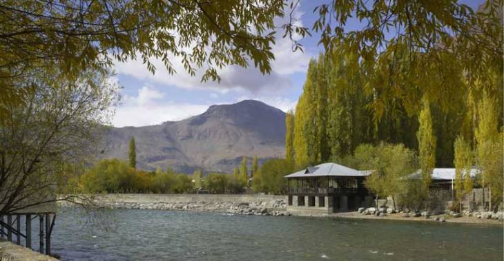 Khorog City Park  after restoration by the Aga Khan Trust for Culture (Photo AKDN)