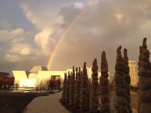 Mehdi Esmail Photo Rainbow over Aga Khan Museum Toronto