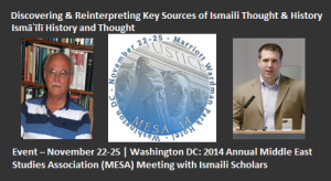 Event - November 22-25 | Washington DC: 2014 Annual Middle East Studies Association (MESA) Meeting with Ismaili Scholars