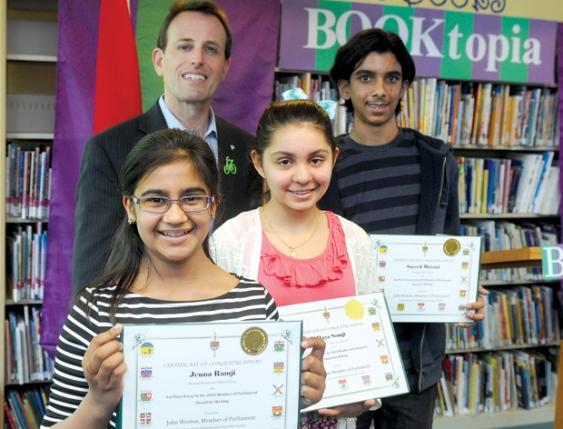 Jenna Ramji, Maya Somji and Sayeed Mavani win 2014 MP Book Award