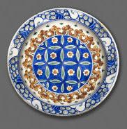 Ceramic dish dated circa 1575-80, Ottoman period. Image: Aga Khan Museum
