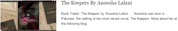 The Keepers By Anoosha Lalani
