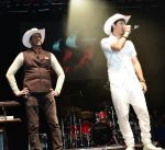 Salim-Sulaiman Show in Calgary, Canada - Mayor Naheed Nenshi presented white cowboy hats to the singers. (Photo credit: Amir Jessani)