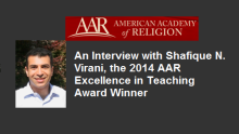 Professor Shafique Virani: One of the best attraction of University of Toronto - Highest Pedagogical Honor - Interview, The American Academy of Religion
