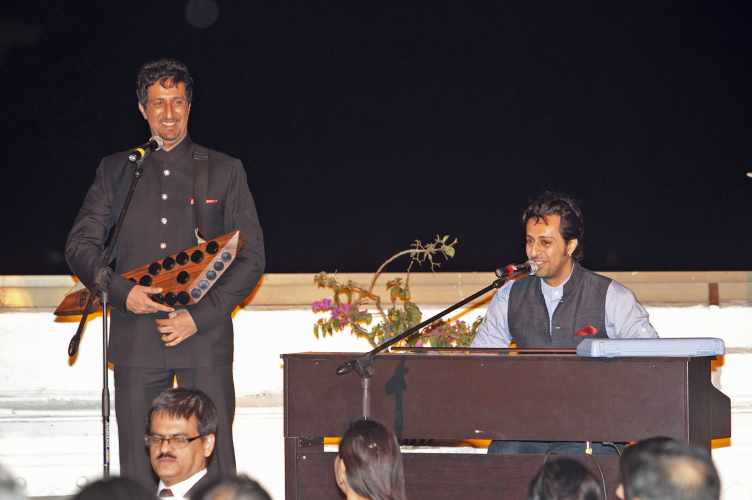 India, 2012 - Salim and Sulaiman perform at the Jamati institutional dinner in honour of Princess Zahra (Photo: The Ismaili/Ahmed Charania and Aziz Ajaney)