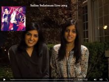 A Message from Salima Ladhani and Aleeza Ladhani, singing with Salim-Sulaiman Live 2014 Tour
