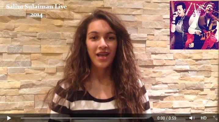 Saba Rawjani singing with Salim-Sulaiman Live 2014 Tour