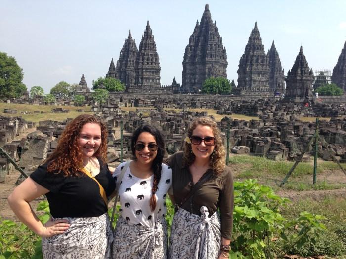 Suraiya Jinah in Indonesia -at-the-prambanan-hindu-temple