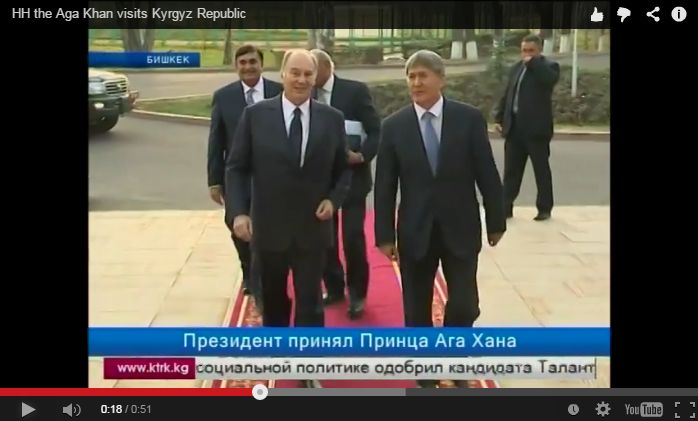 Video (foreign language) His Highness the Aga Khan in Kyrgyzstan