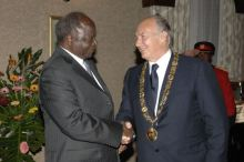 From Ismailimail Archives: Nairobi, Kenya August 13, 2007  His Excellency President Mwai Kibaki bestowed Kenya's highest medal of honour, the Chief of the Order of the Golden Heart.